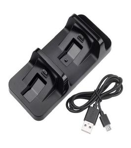 Dual Controller Charger with Battery for PS4  - Black