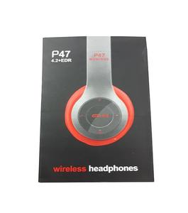 Professional Stereo P47 Wireless Bluetooth Headphones for Gaming - Black White Red Blue Colors