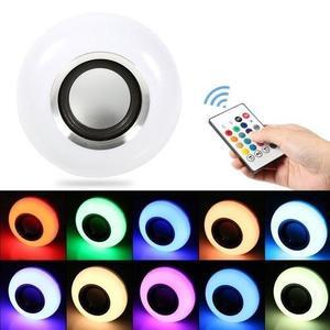 Color Bulb Light E27 Bluetooth Control Smart Music Audio Speaker Lamps EU Plug - RGB