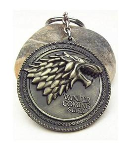 Hbo Game Of Thrones Metal Pendant Keychain