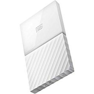 WD 1TB My Passport USB 3.0 Secure Portable Hard Drive (White)