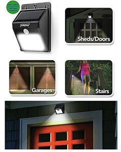 20 Led Solar Powered Motion Sensor Outdoor Wall Light