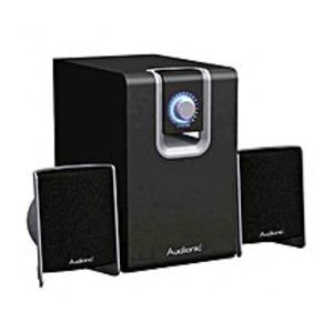 AudionicMax-4 - Audio Solution Full Bass Woofers Speakers - Silver Black