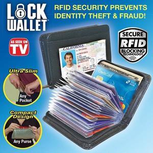 Lock Wallet - Rfid Blocking Wallet For Men And Women