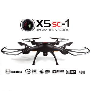 Syma X5SC-1 Falcon Drone HD 2.0MP Camera 4 Channel 2.4G Remote Control Quadcopter 6 Axis 3D Flip Fly UFO 360 Degree Eversion Supported 32 GB SD Card (N)