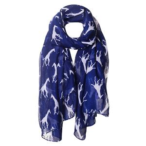 Horse Print Scarf Fashion Farm Animal Lady Wrap Neck Shawl Soft Stole Hot