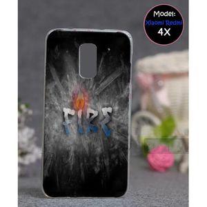 Xiaomi Redmi 4X Mobile Cover Fire Style - Grey