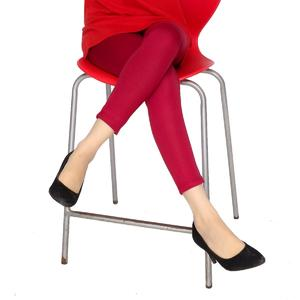 Dija's Women Winter Collection Stitched Maroon Plain Tights- Tights-D-001