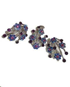 Multi stones pandent with earring
