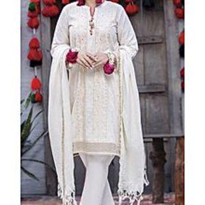 AlmirahOff White Lawn 3 PCS Unstitched Suit for Women