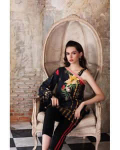 So Kamal Winter Collection  Black Dobby Printed 1PC -Unstitched Shirt DPF18 517 EF01176-STD-BLK
