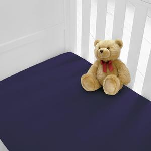 2 Baby Cot Bed Fitted sheets available in 12 colours - (Check Description For Size Information Please)