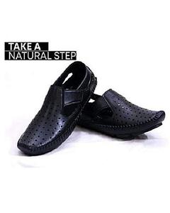 Black Heat Dissipation Sandal Shoes For Men