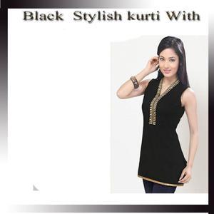 Stylish Women's Black Kurti