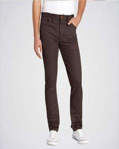 Men's Dark Brown Skinny Fit Stretch Twill Jeans by Hit & Fit Collection