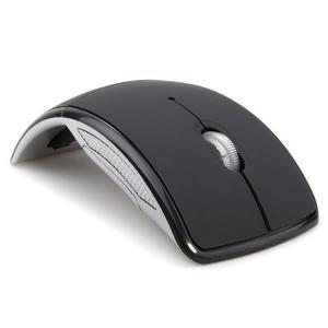 Foldable Folding 2.4GHz Wireless Optical Mouse - Black