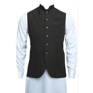 Brown Jawahar Waistcoat for Men