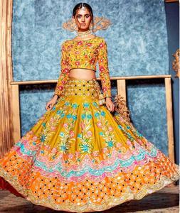 Embroidered Designer Chiffon Bridal Un-Stitched Dress for Women