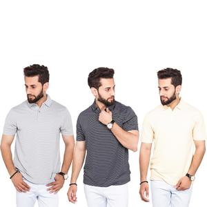 Pack of 3 Polo T-Shirts For Men Multi Color