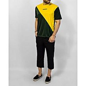 Ihsan Sports Yellow Polyester Dry Fit Half Sleeves Shirt - Ih-143