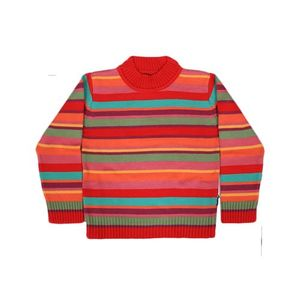 Red & Orange Yarn Dyed Sweater 225682 217678