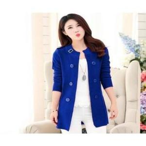 Royal Blue Winter Ladies Korean Coat by Hit & Fit Collection