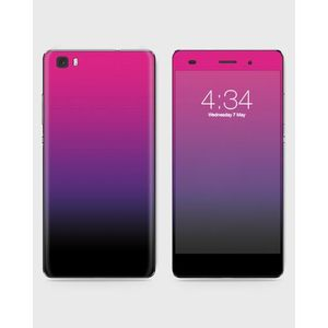 Huawei Honor P8 Lite (2015) Skin Wrap Mix Color Black&Purple- 1wall14