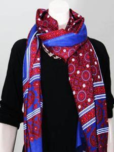 Multicolor Color Sindhi Ajrak Scraf ( Happy Winter )