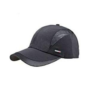Chinese DukaanDark Grey Snapback Quick Dry Summer Breathable  Sun Hat