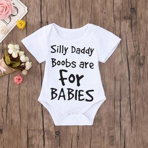 Stonershop Summer Newborn Baby Boys Girls Letter Print Romper Jumpsuit Clothes