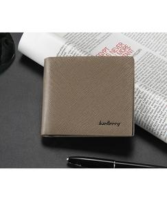 Coffee Casual Leather Wallet for Men- Coffee