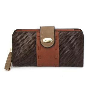 Ladies Wallet Card Holder Lather Phone Pouch Clutch Dark Brown For Women's