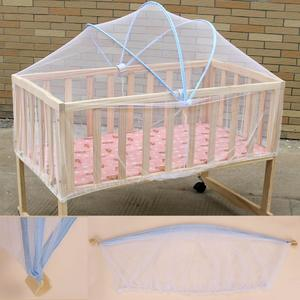 White Infant Baby Cradle Bed Canopy Mosquito Arched Net Toddler Crib Cot Netting