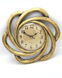 Antique Style Wall Clock - Golden 10""