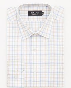 Bonanza Satrangi - Beige Pc Men's Smart Shirt - 11PS2NQ322-15.5