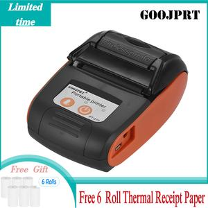 GOOJPRT PT-210 Portable Thermal Printer Handheld 58mm Receipt Printer for Retail Stores Restaurants Factories Logistics