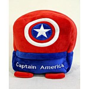 KIDS CARE Captain America Stuffed Bag - 14 Inches - Red