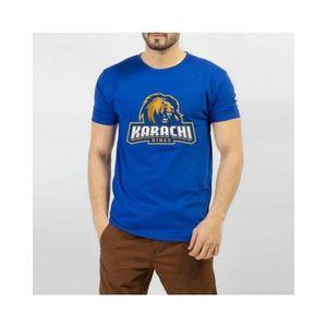 Blue PSl Karachi King Printed T-shirt For Men