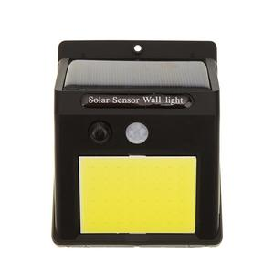 60LED Solar Motion Sensor Wall Light Outdoor Waterproof Yard Garden Lamp