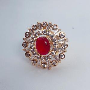 Wedding Ring Gold Plated Top Quality Red Crystal Stone and Material