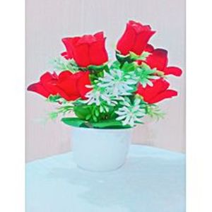 NS CollectionArtificial Tree Decoration Piece - Red Rose