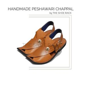 Original Leather Handmade Mustard Peshawari Chappal