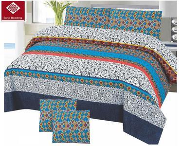 1 x Bed-sheet 2 x Pillow cover