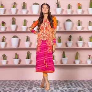 Alkaram studio Spring Summer Collection 2020 Vol I Pink Lawn 2 Piece Suit For Women -A132225663