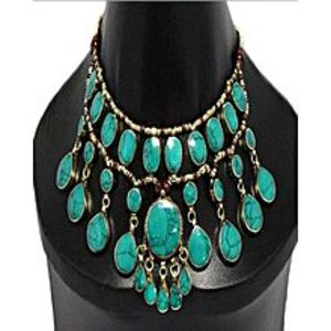Shahana Collection Green Afghani Necklace