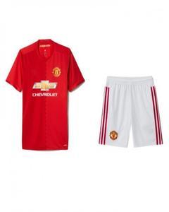 Trendz Red Polyester Manchester United Football Kit - XL