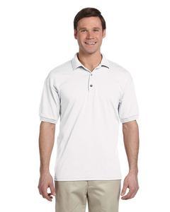 White Cotton-Polyester Polo Shirt For Men