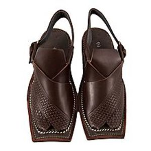 Bartzmall Dark Brown Strap Casual Peshawari Sandal For Men D-0047