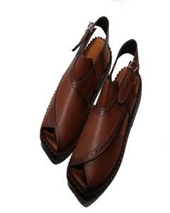 Artificial Leather Peshawari Sandal For Men -Brown