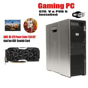 HP Z600 Gaming PC 2X E5620 Dual Processor Quad Core 2.4Ghz 16GB Ram 1 Hard 1TB RX 470 4 GB DDR5 Graphic Card